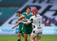 4th October 2020; Twickenham Stoop, London, England; Gallagher Premiership Rugby, London Irish versus Bristol Bears; Nick Phipps of London Irish refusing to give the ball back to Harry Thacker of Bristol Bears in frustration