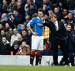 Stuart McCall giving instruction to Lee Wallace