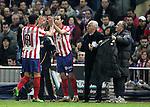 Atletico de Madrid's Raul Garcia is substituted by Tiago during La Liga match. January 17, 2010. (ALTERPHOTOS/Alvaro Hernandez).