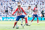 Real Madrid Lucas Vazquez and Atletico de Madrid Antoine Griezmann during La Liga match between Real Madrid and Atletico de Madrid at Santiago Bernabeu Stadium in Madrid, Spain. April 08, 2018. (ALTERPHOTOS/Borja B.Hojas)