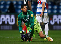 17th February 2021; The Kiyan Prince Foundation Stadium, London, England; English Football League Championship Football, Queen Park Rangers versus Brentford; Goalkeeper Seny Dieng of Queens Park Rangers
