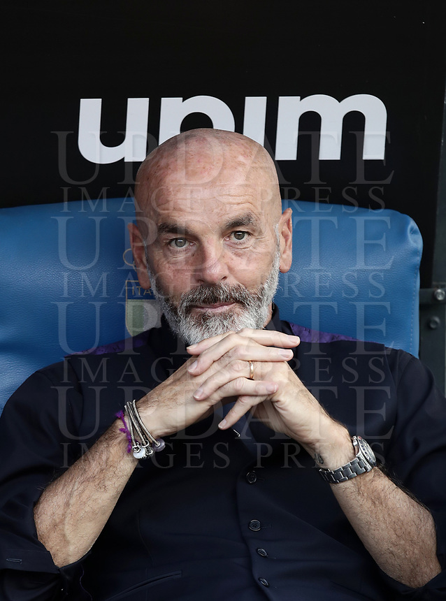 Football, Serie A: S.S. Lazio - Fiorentina, Olympic stadium, Rome, 7 ottobre 2018. <br /> Fiorentina's coach Stefano Pioli prior to the Italian Serie A football match between S.S. Lazio and Fiorentina at Rome's Olympic stadium, Rome on October 7, 2018.<br /> UPDATE IMAGES PRESS/Isabella Bonotto