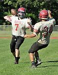 TORRINGTON, CT - 29 August 2012-082912EC11--    Jason Abbott practices Wednesday afternoon with the Torrington High School football team.  Erin Covey Republican American.