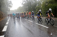 31st August 2020, Nice to Sisteron, France; Tour de France cycling tour, stage 3; the peloton in the rain