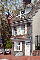 Home of Besty Ross, maker of the first American Flag, Betsy Ross House, National Shrine ,239 Arch St. , Philadelphia, Pa.