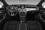 Stock photo of straight dashboard view of 2016 Mercedes Benz CLA Class CLA250 4 Door Sedan Dashboard