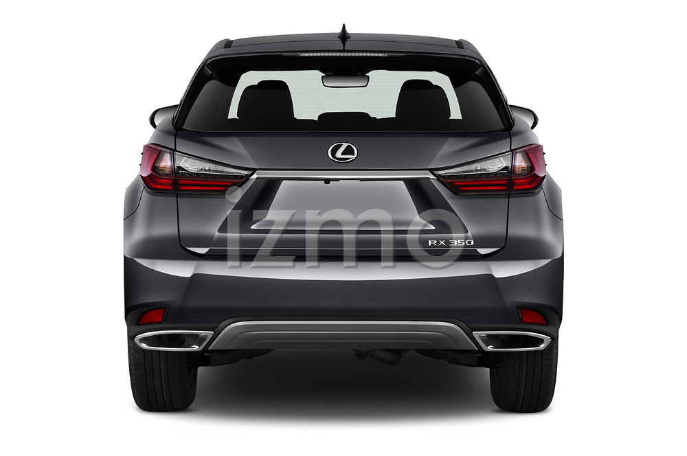 Straight rear view of 2021 Lexus RX 350 5 Door SUV Rear View  stock images