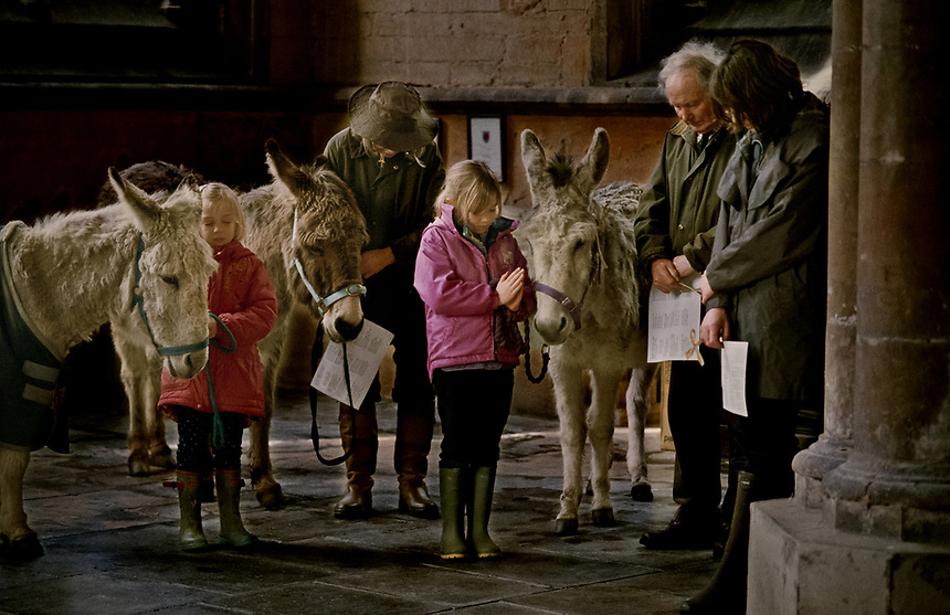 © Si Barber 07739 472 922<br /> Palm Sunday service at St Michael's Church, Swaton,Lincolnshire, UK
