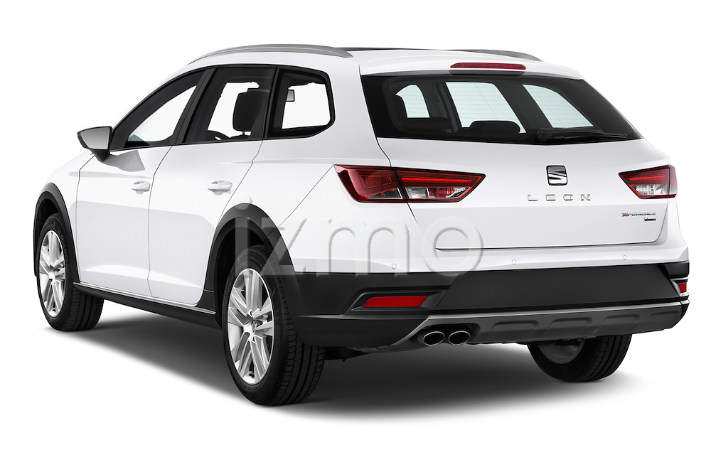 Car pictures of rear three quarter view of a 2015 Seat Leon Style Copa 4 Door Hatchback Angular Rear