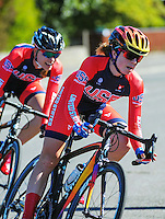 Evelyn Stevens (USA) in action during race one of the Trust House Women's Cycle Tour Of New Zealand in Masterton, New Zealand on Wednesday, 18 February 2015. Photo: Dave Lintott / lintottphoto.co.nz