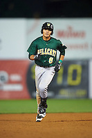 Lynchburg Hillcats shortstop Yu-Cheng Chang (6) runs the bases after hitting a home run during a game against the Wilmington Blue Rocks on June 3, 2016 at Judy Johnson Field at Daniel S. Frawley Stadium in Wilmington, Delaware.  Lynchburg defeated Wilmington 16-11 in ten innings.  (Mike Janes/Four Seam Images)