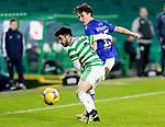 Celtic v St Johnstone…06.12.20   Celtic Park      SPFL<br />Danny McNamara and Greg Taylor<br />Picture by Graeme Hart.<br />Copyright Perthshire Picture Agency<br />Tel: 01738 623350  Mobile: 07990 594431
