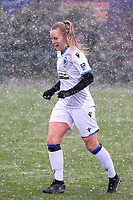 Elle Decorte (7) of Club Brugge pictured before a friendly female soccer game between SC Eendracht Aalst and Club Brugge YLA on Saturday 16 January 2021 at Zandberg Youth Complex in Aalst , Belgium . PHOTO SPORTPIX.BE   SPP   SEVIL OKTEM
