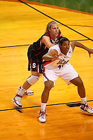 6 April 2008: Stanford Cardinal Kayla Pedersen during Stanford's 82-73 win against the Connecticut Huskies in the 2008 NCAA Division I Women's Basketball Final Four semifinal game at the St. Pete Times Forum Arena in Tampa Bay, FL.