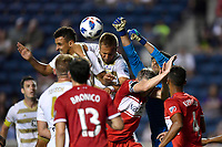 Chicago, IL - July 18, 2018: Lamar Hunt U.S. Open Cup round of 16 match between the Chicago Fire and Louisville City at Toyota Park in Bridgeview, IL.  The Fire defeated Louisville City by the score of 4-0.