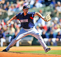 11 March 2011: Boston Red Sox pitcher Dan Wheeler on the mound during a Spring Training game against the Houston Astros at Osceola County Stadium in Kissimmee, Florida. The Red Sox defeated the Astros 9-3 in Grapefruit League action. Mandatory Credit: Ed Wolfstein Photo