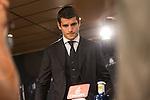Real Madrid's Alvaro Morata during the presentation of the player at the Santiago Bernabeu Stadium. August 15, 2016. (ALTERPHOTOS/Rodrigo Jimenez)