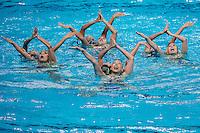 Team Japan JPN<br /> Bronze Medal<br /> Synchro Women's Team Free Final Free Routine - Kazan Arena<br /> Day08 31/07/2015<br /> XVI FINA World Championships Aquatics Swimming<br /> Kazan Tatarstan RUS July 24 - Aug. 9 2015 <br /> Photo A.Masini/Deepbluemedia/Insidefoto