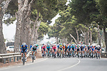 The breakaway tries to form during Stage 10 of La Vuelta d'Espana 2021, running 189km from Roquetas de Mar to Rincón de la Victoria, Spain. 24th August 2021.     <br /> Picture: Charly Lopez/Unipublic   Cyclefile<br /> <br /> All photos usage must carry mandatory copyright credit (© Cyclefile   Unipublic/Charly Lopez)
