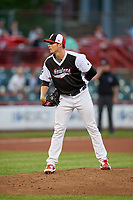 Erie SeaWolves pitcher Trent Szkutnik (35) during an Eastern League game against the Portland Sea Dogs on June 17, 2019 at UPMC Park in Erie, Pennsylvania.  Portland defeated Erie 6-3.  (Mike Janes/Four Seam Images)