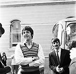 Beatles 1967 Paul McCartnwy and Ringo Starr at start of Magical Mystery Tour <br />© Chris Walter