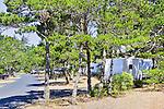 Trailer Camping, South Beach State Park, Newport, Oregon Coast, USA.   U.S. 101, Oregon Coast, USA