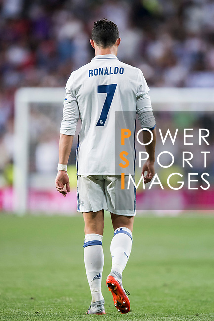 Cristiano Ronaldo of Real Madrid reacts during their 2016-17 UEFA Champions League Quarter-finals second leg match between Real Madrid and FC Bayern Munich at the Estadio Santiago Bernabeu on 18 April 2017 in Madrid, Spain. Photo by Diego Gonzalez Souto / Power Sport Images