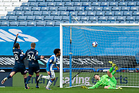 20th February 2021; The John Smiths Stadium, Huddersfield, Yorkshire, England; English Football League Championship Football, Huddersfield Town versus Swansea City; Duane Holmes of Huddersfield Town scores his first of two goals after 52 minutes