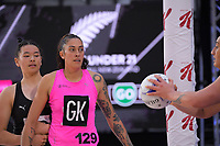 NZ A's Erena Mikaere during the Cadbury Netball Series match between NZ A and NZ Under-21 at the Fly Palmy Arena in Palmerston North, New Zealand on Saturday, 24 October 2020. Photo: Dave Lintott / lintottphoto.co.nz