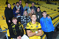 Hurricanes' Rubden Love with his family after the Super Rugby Tran-Tasman match between the Hurricanes and Reds at Sky Stadium in Wellington, New Zealand on Friday, 11 June 2020. Photo: Dave Lintott / lintottphoto.co.nz