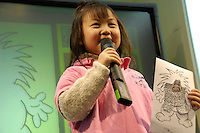 Children from Fastrackids China attend basic economic course about market investigation in Shanghai, China. They simulate market investigation of a monster toy before production. US company FasTracKids has introduced an Early programme to pre-schoolers in Shanghai, and plans rapid expansion across China to meet demand. Children as young as 3 are taught basic economic concepts, including barter trade, as well as how to make presentations. And in a weekly 2-hour session, over the course of 2 years, they're also introduced to astronomy, speech, drama and creative writing. 05-JAN-2007  (photo by Lou Linwei/Sinopix)