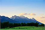 Sunset over the Grand Teton mountains