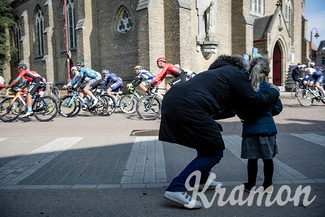 peloton rolling through Aartrijke<br /> <br /> 45th Oxyclean Classic Brugge-De Panne 2021 (ME/1.UWT)<br /> 1 day race from Bruges to De Panne (204km)<br /> <br /> ©kramon