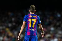 14th September 2021: Nou Camp, Barcelona, Spain: ECL Champions League football, FC Barcelona versus Bayern Munich: Luck de Jong in action