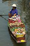 Thailand, Central Thailand, Damnoen Saduak near Bangkok: Floating Market | Thailand, Zentralthailand, Damnoen Saduak bei Bangkok: Floating Market