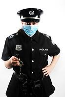 Corona Virus - police costume