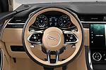 Car pictures of steering wheel view of a 2021 Jaguar XF SE 4 Door Sedan Steering Wheel