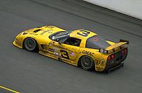 "The #3 ""Earnhardt"" Corvette races to 3rd..39th Rolex 24 at Daytona, 3/4 February,2001 Daytona International Speedway  Daytona Beach,Florida,USA.©F.Peirce Williams 2001 .."