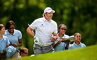 Golfer Phil Mickelson plays the course during the Quail Hollow Championship 2009 Pro-Am in Charlotte, North Carolina. The Pro-Am is held as part of the professional championship, formerly called the Wachovia Championship, which is a top event on the PGA Tour, attracting such popular golf icons as Tiger Woods, Vijay Singh and Bubba Watson.