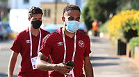 Bryan Mbeumo of Brentford who recently was tested positive for coronavirus arrives at the ground during Brentford vs West Bromwich Albion, Sky Bet EFL Championship Football at Griffin Park on 26th June 2020