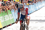 David Gaudu (FRA) Groupama-FDJ finishes 7th at the end of Stage 15 of the 2021 Tour de France, running 191.3km from Céret to Andorre-La-Vieille, Andorra. 11th July 2021.  <br /> Picture: Colin Flockton | Cyclefile<br /> <br /> All photos usage must carry mandatory copyright credit (© Cyclefile | Colin Flockton)