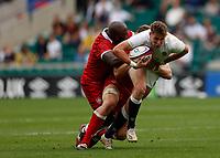 10th July 2021; Twickenham, London, England; International Rugby Union England versus Canada; Freddie Steward of England trying to get through Canadian defence
