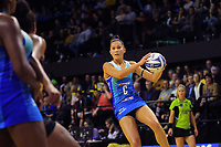 Tayla Earle in action during the ANZ Premiership netball match between Central Pulse and Northern Mystics at TSB Bank Arena in Wellington, New Zealand on Monday, 10 May 2021. Photo: Dave Lintott / lintottphoto.co.nz