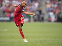 Commerce City, CO - Thursday June 08, 2017: John Brooks during a 2018 FIFA World Cup Qualifying Final Round match between the men's national teams of the United States (USA) and Trinidad and Tobago (TRI) at Dick's Sporting Goods Park.