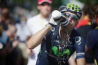 Alejandro Valverde (ESP) dehydrated after a very hot day of racing<br /> <br /> Tour de France 2013<br /> stage 16: Vaison-la-Romaine to Gap, 168km