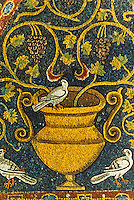 Ravenna: Temple of San Vitale--Mosaics of the choir, detail.