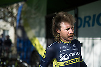 The meanest mullet/moustache combo in the WorldTour should probably go to Mitchell Docker (AUS/ORICA-Scott) <br /> <br /> 115th Paris-Roubaix 2017 (1.UWT)<br /> One Day Race: Compiègne › Roubaix (257km)