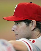 Phillies pitcher Jamie Moyer on Saturday May 24th at Minute Maid Park in Houston, Texas. Photo by Andrew Woolley / Four Seam Images.