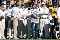 Philadelphia Eagles wider receiver DeSean Jackson on the sideline of his alma mater. The California Golden Bears defeated the UCLA Bruins 35-7 at Memorial Stadium in Berkeley, California on October 9th, 2010.