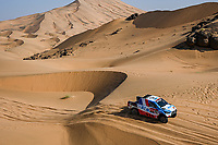 4th January 2021; Dakar Rally stage 2;  #322 Chabot Ronan (fra), Pillot Gilles (fra), Toyota, Overdrive Toyota, Auto, action during the 2nd stage of the Dakar 2021 between Bisha and Wadi Al Dawasir, in Saudi Arabia on January 4, 2021